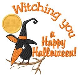 Happy Halloween Crow embroidery design