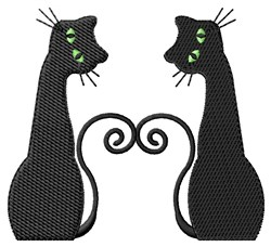 Two Cats embroidery design