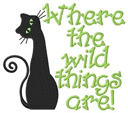 Wild Things embroidery design