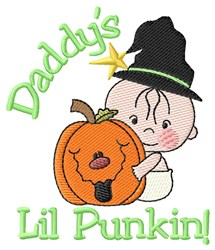 Daddys Lil Punkin! embroidery design
