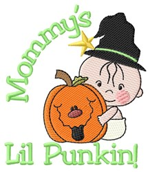 Mommys Lil Punkin! embroidery design
