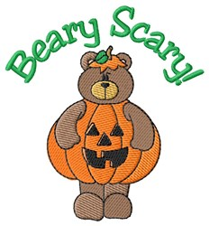 Beary Scary! embroidery design