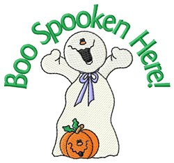 Spooky Halloween Ghost embroidery design