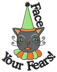 Face Your Fears embroidery design