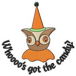 Spooky Halloween Owl embroidery design