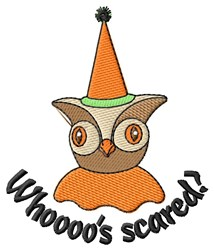 Boo-tiful Halloween Owl embroidery design