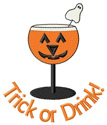 Trick Or Drink! embroidery design