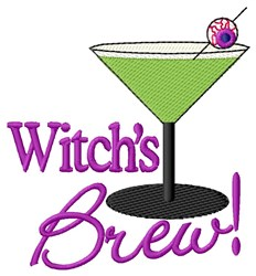 Witchs Brew! embroidery design