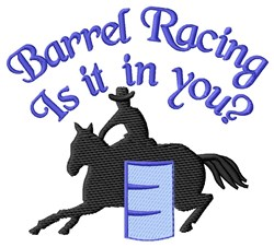 Racing In You embroidery design