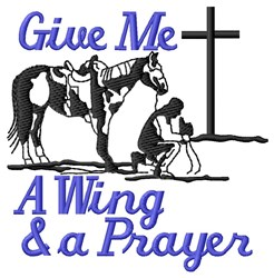 Wing & Prayer embroidery design