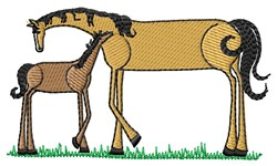 Horse And Pony embroidery design