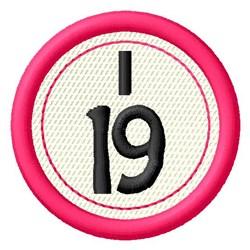 Bingo I19 embroidery design