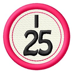 Bingo I25 embroidery design