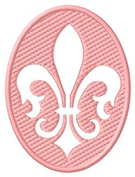 Embossed Fleur de Lis embroidery design