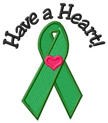 Heart Donor embroidery design