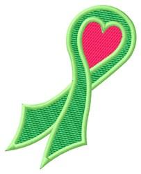 Green Awareness Ribbon embroidery design