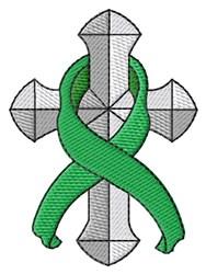 Cross Ribbon embroidery design