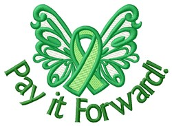 Donate Life! embroidery design
