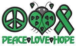 Peace Love Hope embroidery design