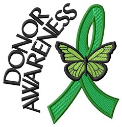 Donor Awareness embroidery design