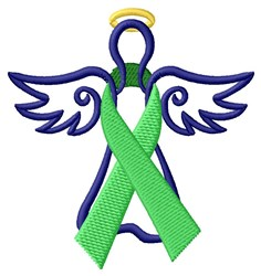 Angel Ribbon Organ Donor embroidery design