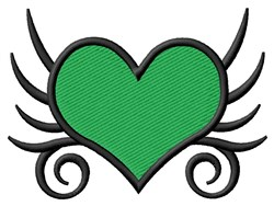 Tribal Heart embroidery design