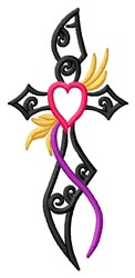 Tattoo Cross embroidery design