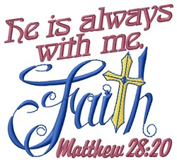 Always With Me embroidery design