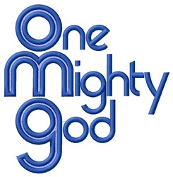 Mighty God embroidery design