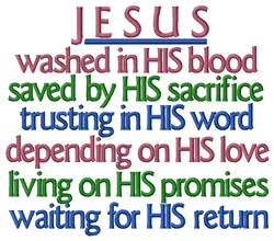 Jesus Return embroidery design