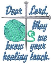 Dear Lord embroidery design