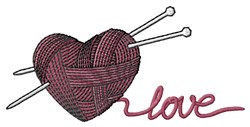 Knit Love embroidery design