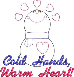Cold Hands, Warm Heart embroidery design