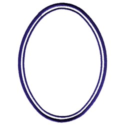 Double Oval Frame embroidery design