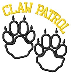 Cat Claw Outline Patrol embroidery design
