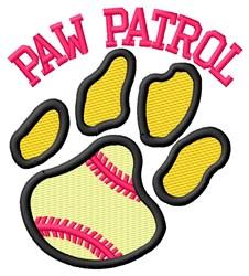 Cat Patrol Softball embroidery design