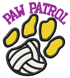 Cat Patrol Volleyball embroidery design