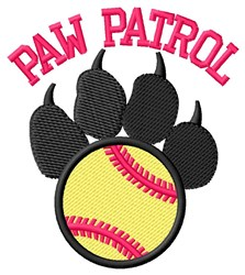 Dog Patrol Softball embroidery design