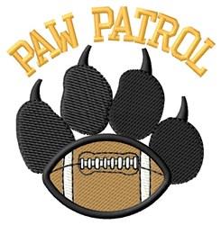 Dog Patrol Football embroidery design