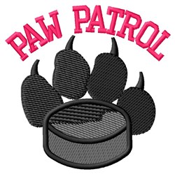 Dog Patrol Hockey embroidery design