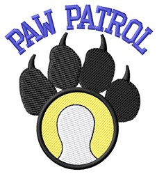 Dog Patrol Tennis embroidery design