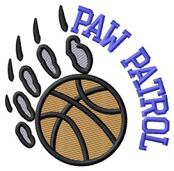 Bear Patrol Basketball embroidery design