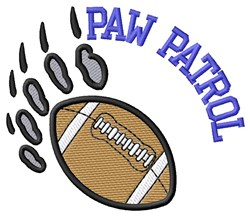 Bear Patrol Football embroidery design