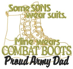 Army Dad embroidery design
