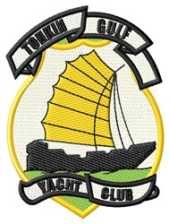 Tonkin Gulf Yacht Club embroidery design