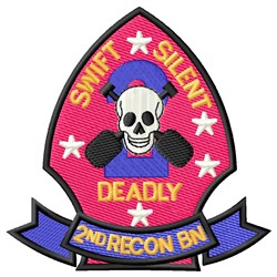 2nd Recon embroidery design