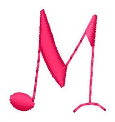 Music M embroidery design