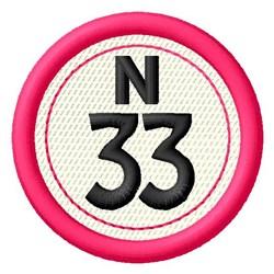 Bingo N33 embroidery design