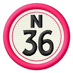 Bingo N36 embroidery design