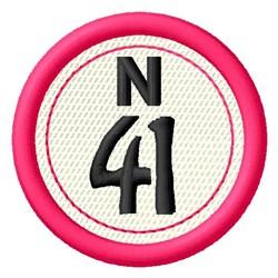 Bingo N41 embroidery design